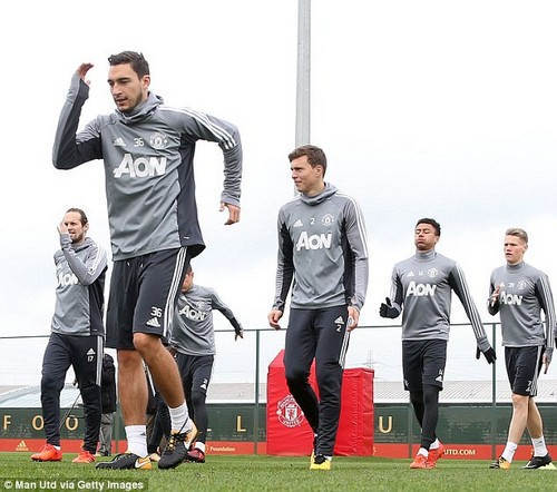 Matteo Darmian leads the way as fitness coaches ensure United's players are in top condition