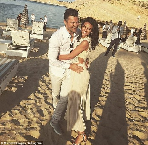 'Beautiful': Mark Wright has revealed he can't wait for his wife Michelle Keegan to join him in Los Angeles