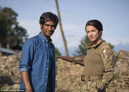 It's back:Northern beauty Michelle had been busy shooting the latest instalment of popular BBC series Our Girl in Malaysia, South Africa and Nepal for the past few months while Mark kicked off his new role in America