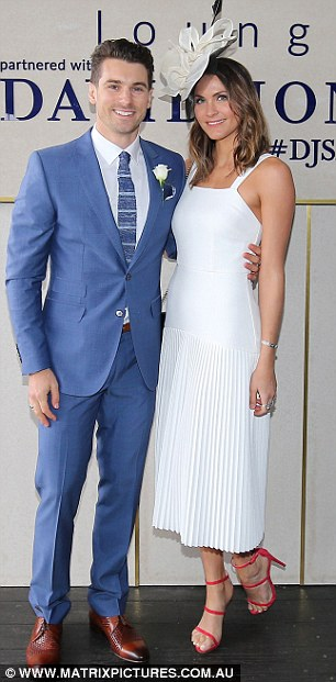 Stylish pair: The reality TV sweethearts cut fashionable figures at the event
