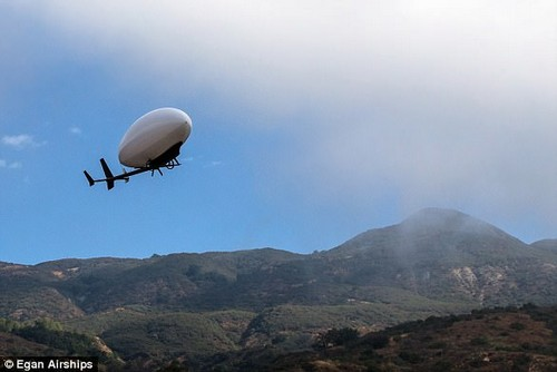 The 55-pound (25 kilogram) drone can fly for one hour at a cruise speed of 30 miles (43 kilometers) per hour, while carrying a payload of 5 pounds (2.3 kilograms)