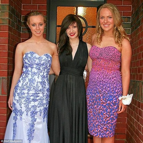 While Stefanie opened up about the turmoil of living without hair, she also says her struggles have been a 'blessing in disguise' in many regards (Pictured middle)