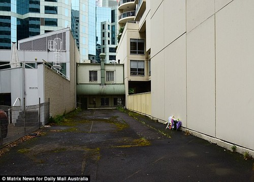 Body of Ms Choi, 34, was discovered in an alley next to her Chatswood apartment (pictured)