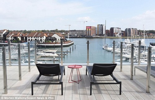 Water views: Situated on the Ocean Village marina, the hotel will cater to holidaymakers preparing to set sail on cruises