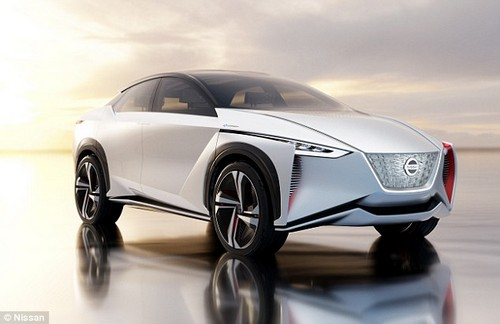 The accent colours - like the red pods beneath the headlights - are said to be inspired by traditional Japanese kimonos
