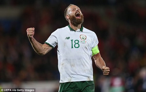 An added-time booking means David Meyler will miss the first leg because of suspension