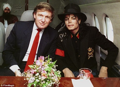 Ivana Trump states in her new book that Michael Jackson (R) would spend 'hours' with the kids' playing games like 'Mario Brothers or Tetris'