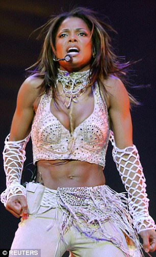 Dare to bare: The Indiana-born superstar has often been quick to show off her incredible abs in past performances. Pictured during her All For You world tour in 2001