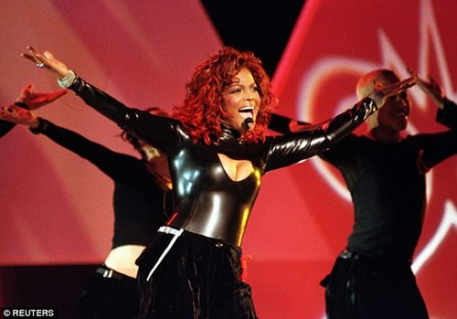 She's got a lot of front: She rocked a plunging leather catsuit in one memorable show during the 1998 American Music Awards