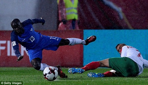 Kante picked up a knock during France's World Cup qualifying clash with Bulgaria this week