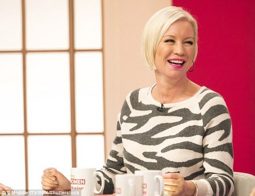 Honest: Denise Van Outen revealed on Monday that it was her stint on Strictly Come Dancing in 2012 which helped her realise the 'problems' in her marriage