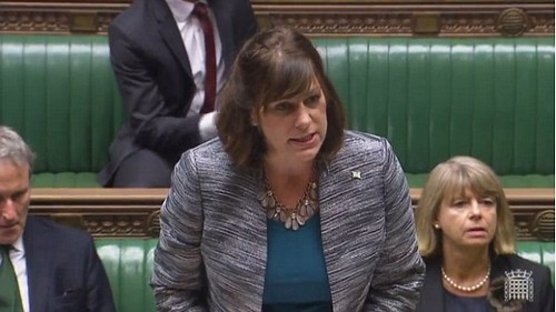 Industry MinisterClaire Perry (pictured in the Commons today) vowed the Government stood ready to help staff who face the axe at BAE following today's decision
