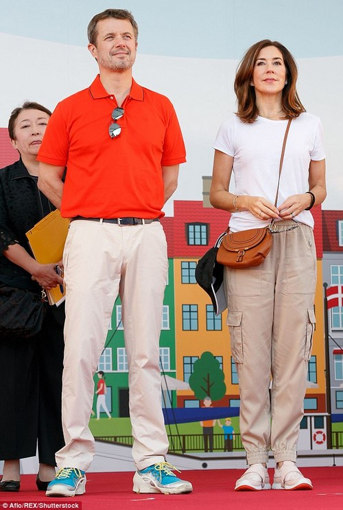 Princess Mary and Prince Frederik (both pictured) attended a Walkathon as part of the Danish Festival in Japan