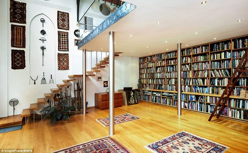 The stunning property now boasts a library room and there is a nod to its holy past.There is a Latin inscription around the edge of the mezzanine floor which translates to 'this house has been rendered more beautiful by the presence of a dove'