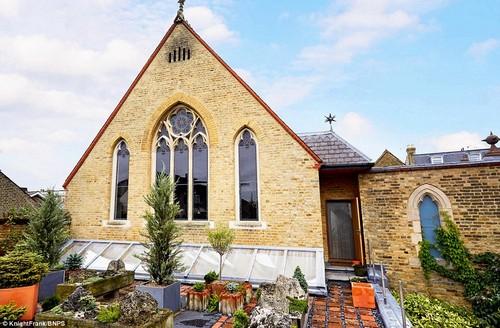 Keith Holmes bought the derelict chapel and transformed it into a luxury home and it has gone on the market for £1.8m. As recently as 1997 the stunning property was a complete wreck with missing tiles, woodworm and smashed stained glass windows