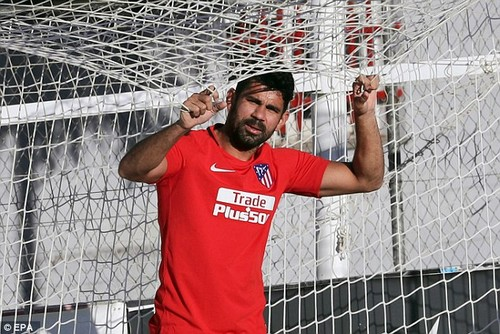 Costa has been put on an intensive fitness programme so he can get back into shape