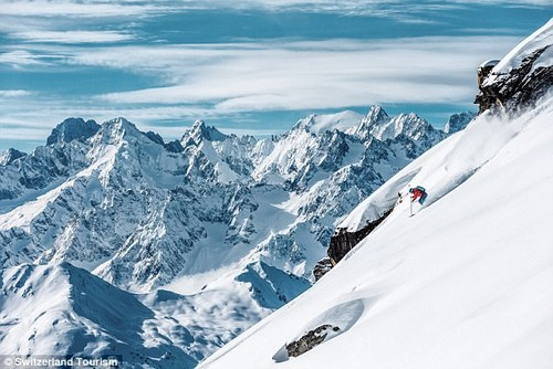Parents escape: Dom and Stacey were invited to Verbier, and jumped at the chance to leave their children at home for a few days