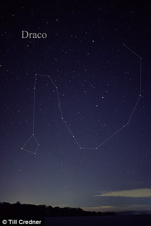 The meteor shower is named after the constellation Draco, because the meteors can be seen when this constellation is highest