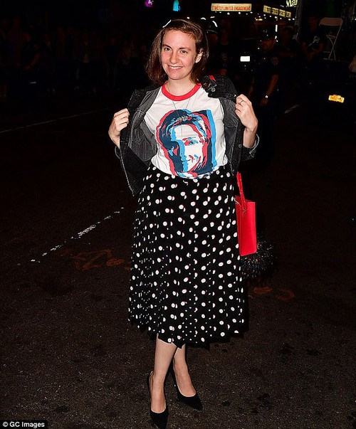 Actress Lena Dunham (pictured, October 2016) has revealed that regrets performing at a benefit for then-presidential candidate Hillary Clinton that was backed by The Weinstein Company