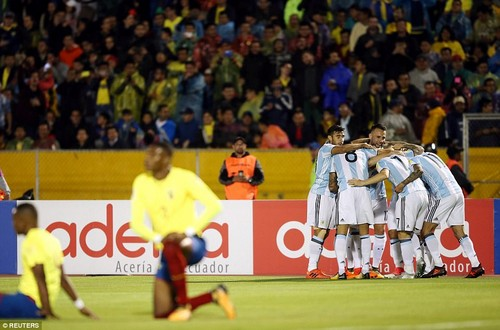 The Barcelona forward netted twice in eight first-half minutes as Jorge Sampaoli's side turned the game on its head in Quito