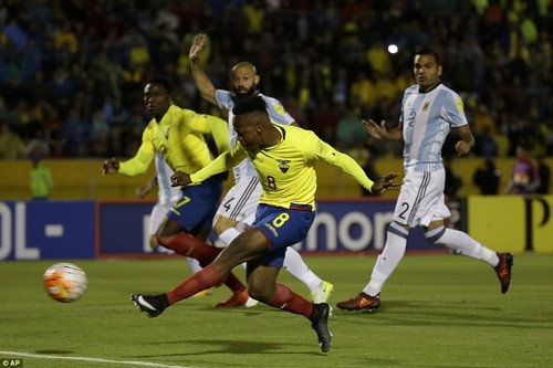 Romario Ibarra put Ecuador in front after only 38 seconds in Quito after Argentina failed to deal with a simple long ball