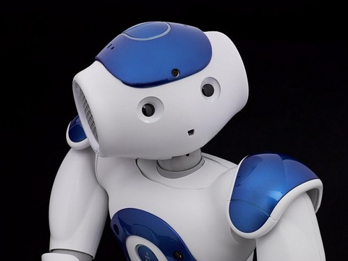 The 'robot agent' status would sit somewhere between having a 'separate legal personality', like humans, and being an object that is someone else's 'personal property'. Pictured is the Nao V5 Evolution humanoid robot, created by Aldebaran Robotics in France