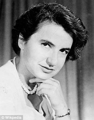 Rosalind Franklin, pictured, spent three years researching DNA before the model was published by Crick and Watson