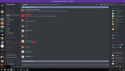Capture of some of the discussion on Discord