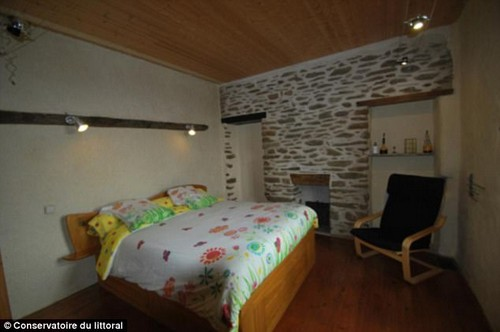 There are several bedrooms in the main house which also serves as a bed and breakfast