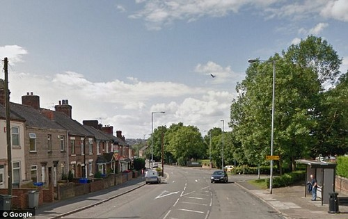 The driver told Armani he couldn't take the old pound coin and drove off with her at the bus stop, leaving her 'upset' and 'embarrassed' by the side of Werrington Road (pictured)