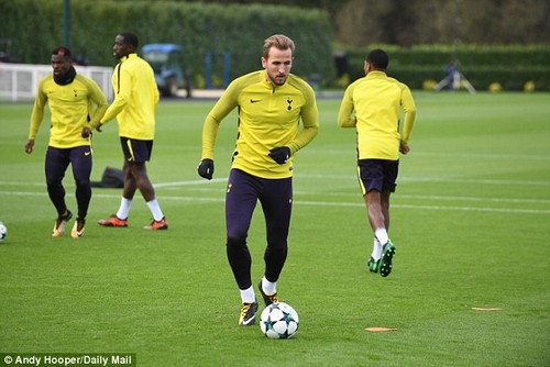 Harry Kane was back in action for Tottenham as they prepared to take on Real Madrid