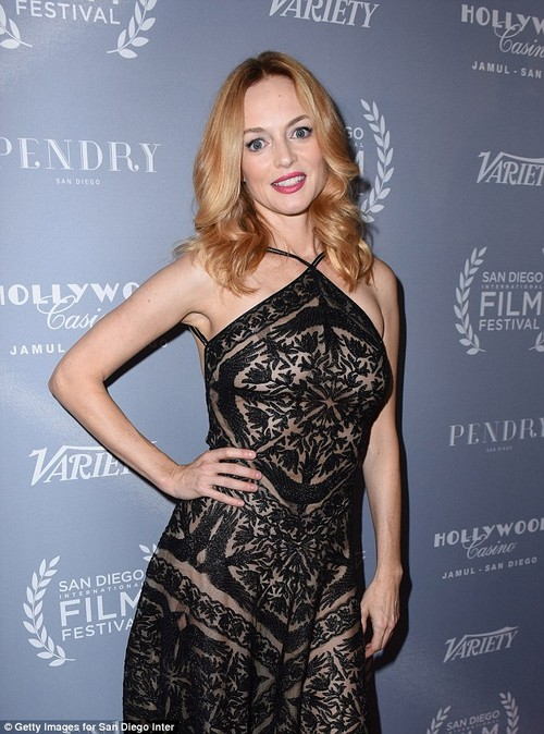 And as to why she is just now telling her story - Graham said she knew he never explicitly offered a trade of sex or work, and she didn't want to be attacked for reading into something that 'may or may not have been there'. The 47-year-old is pictured at the San Diego International Film Festival on October 5