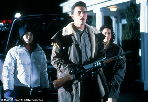 It's not clear which press conference McGowan was referring to, but both she (left) and Affleck (center) appeared in the 1998 horror movie Phantoms (pictured), produced by Weinstein