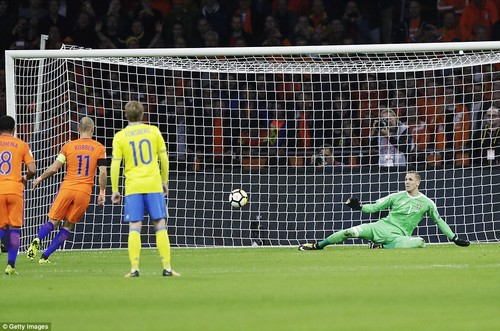 The winger started the goalscoring as his 'Panenka' penalty was just out of the reach of Sweden stopperRobin Olsen