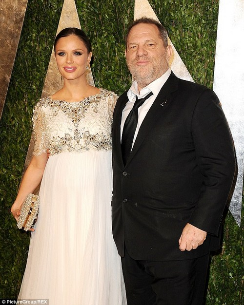Marriage: Weinstein and his British designer wife Georgina Chapman at the Oscars in 2013
