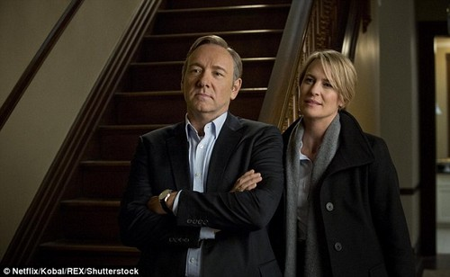 End of the road:Netflix has revealed that the upcoming sixth season of 'House of Cards,' which is in production now, will be its last (Spacey and Robin Wright in House of Cards above)