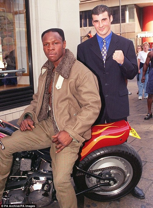 Eubank turned up to a press conference on his Harley-Davidson, while Calzaghe took the train