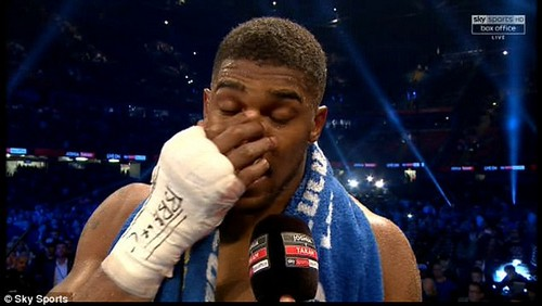 The world heavyweight champion Joshua admitted he wants his nose to be reset into place