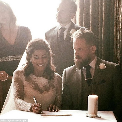 But, last month the PR manager tied the knot with fiance Tristan, sharing a host of photos on social media