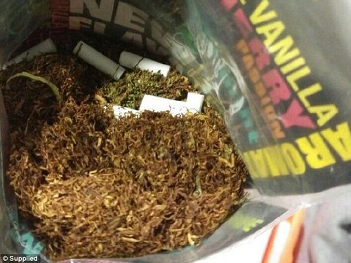 Police claim the 36 grams of marijuana was found in Mr Baker's bag when he arrived from Thailand on Sunday