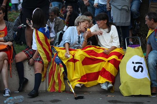 The president also spoke of Spain's recent history, explaining: 'Since the death of Franco, Catalonia has contributed as much as anyone to the consolidation of Spanish democracy. Catalonia believed that the Spanish Constitutio n could be a good starting point'