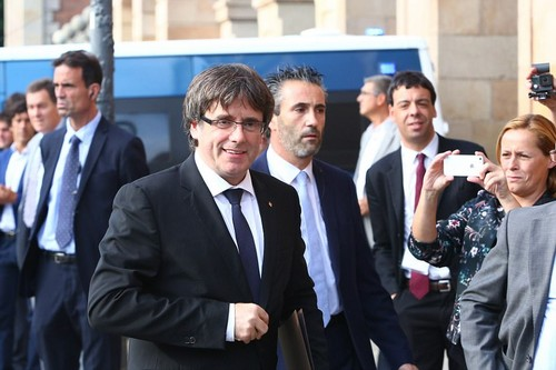 Catalan president Carles Puigdemont will reveal imminently whether he is following through on his threat to declare independence - defying the central government and Spanish courts