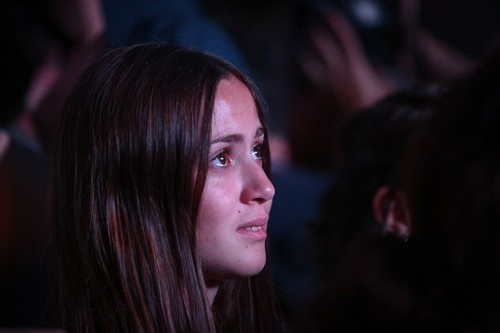 Spain rejected Catalonia's 'tacit' independence declaration, according to a spokesman for the central government. Pictured: A woman watches the speech in Barcelona