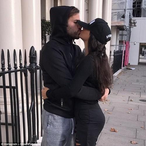 Cesc Fabregas spent Sunday afternoon in London with girlfriend Daniella Semaan