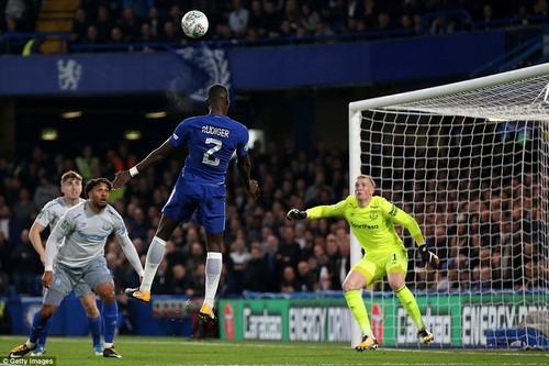 Rudiger met the looped cross ofCharly Musonda with his head and guided it past Everton goalkeeper Jordan Pickford