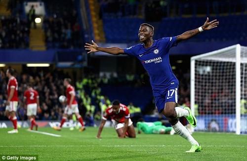 Charly Musonda scored on his full Chelsea debut against Nottingham Forest