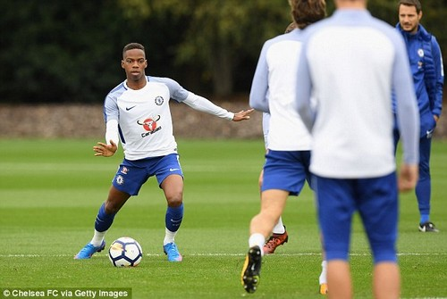 Musonda, pictured during a training session at Chelsea's Cobham base in September