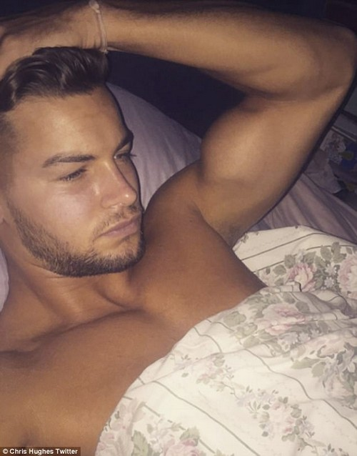 Hitting out:The 39-year-old glamour model has been embroiled in a bitter war of words with Chris after he accused her of threatening his girlfriend Olivia Attwood following the emergence of a text exchange between them