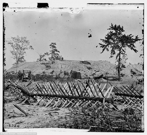 One of the battlegrounds in Sherman, Atlanta, which shows the true horror of some of the devices used to maim soldiers and win the war