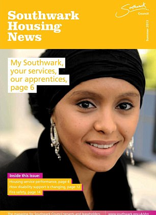 Girma on the front of a Southwark Council magazine promoting its apprenticeship scheme